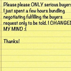 Serious buyers please